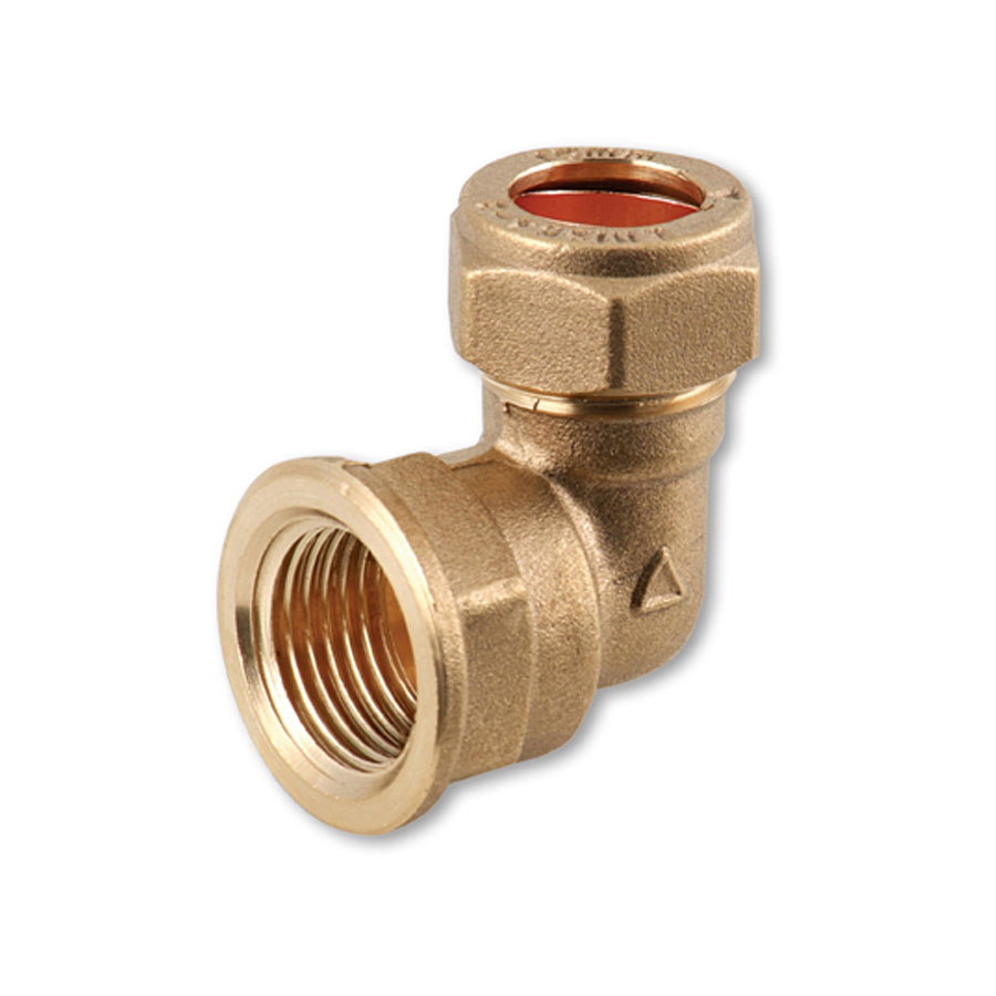 """Compression Fitting FI x C Elbow ¾"""" x 22mm image 0"""