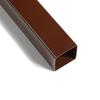 Polypipe Square Rainwater 65mm Downpipe 4m Brown RS223