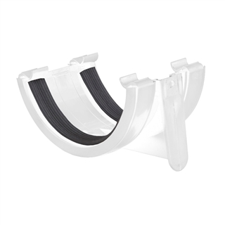 Polypipe Half Round Rainwater 112mm Gutter Union Bracket White RR102