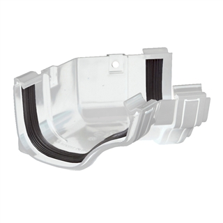 Polypipe Ogee Gutter 130mm x 70mm Internal Angle 135° White ROG14
