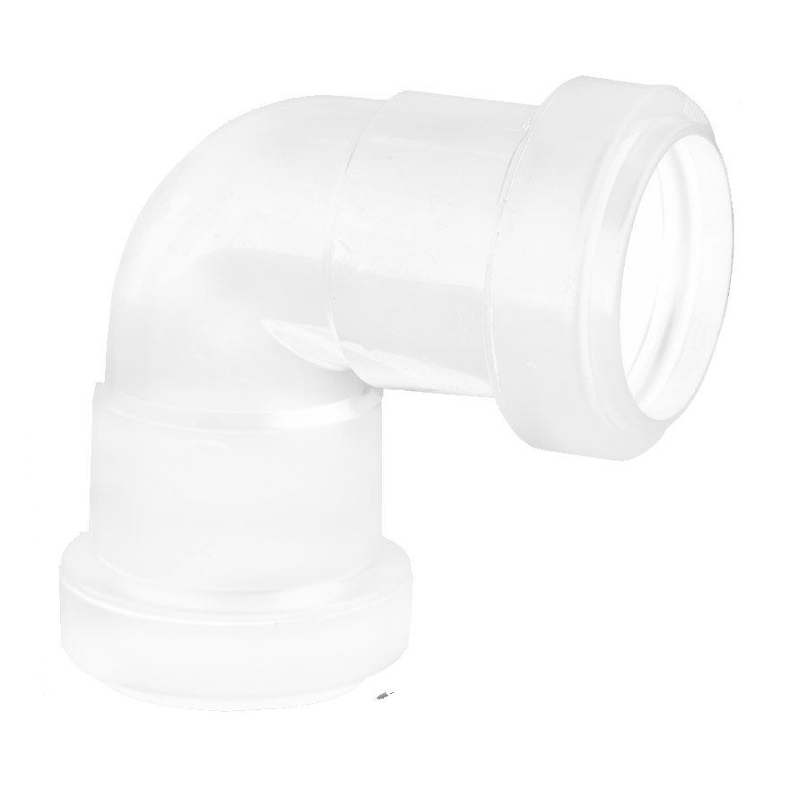 Polypipe Push-Fit Waste 32mm 90° Knuckle Bend White WP15 image 0
