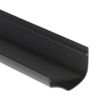 Polypipe Ogee Gutter 130mm x 70mm 4m Black ROG01