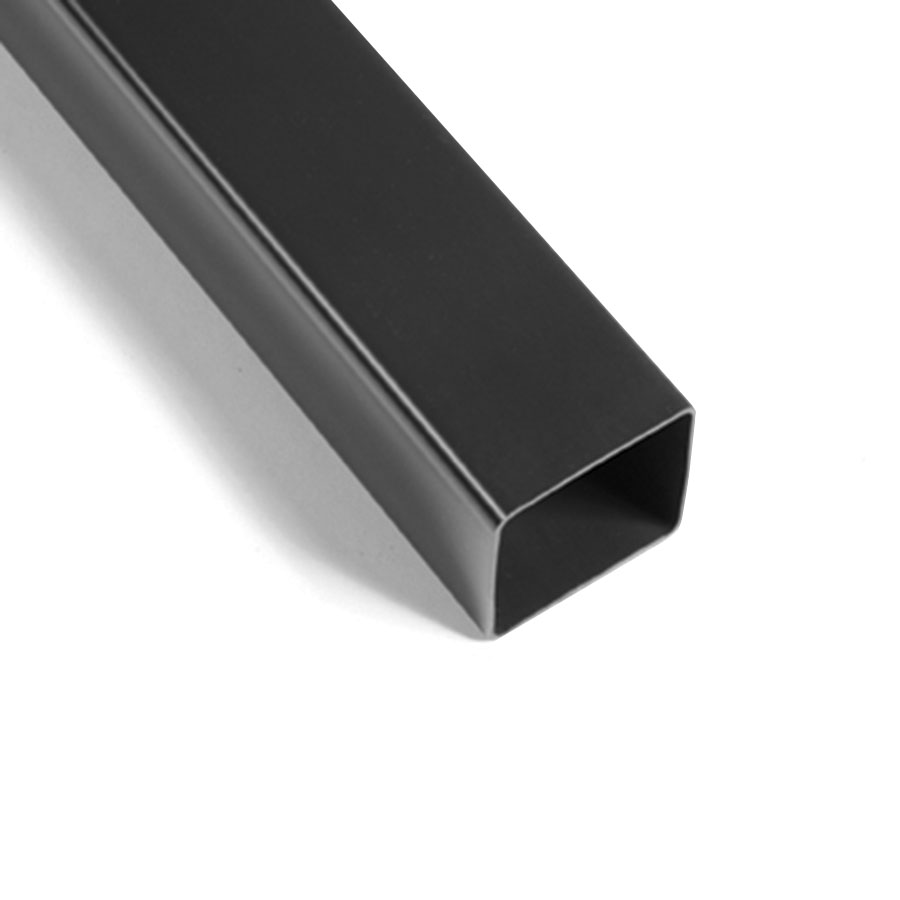Polypipe Square Rainwater 65mm Downpipe 2.5m Black RS221 image 0