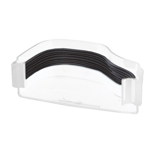 Polypipe Ogee Gutter 130mm x 70mm Stop End External Left Hand White ROG07