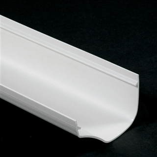 Polypipe Ogee Gutter 130mm x 70mm 4m White ROG01