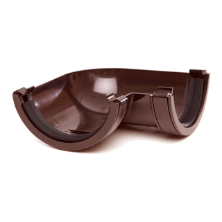 Polypipe Half Round Rainwater 112mm Gutter Angle 90° Brown RR103