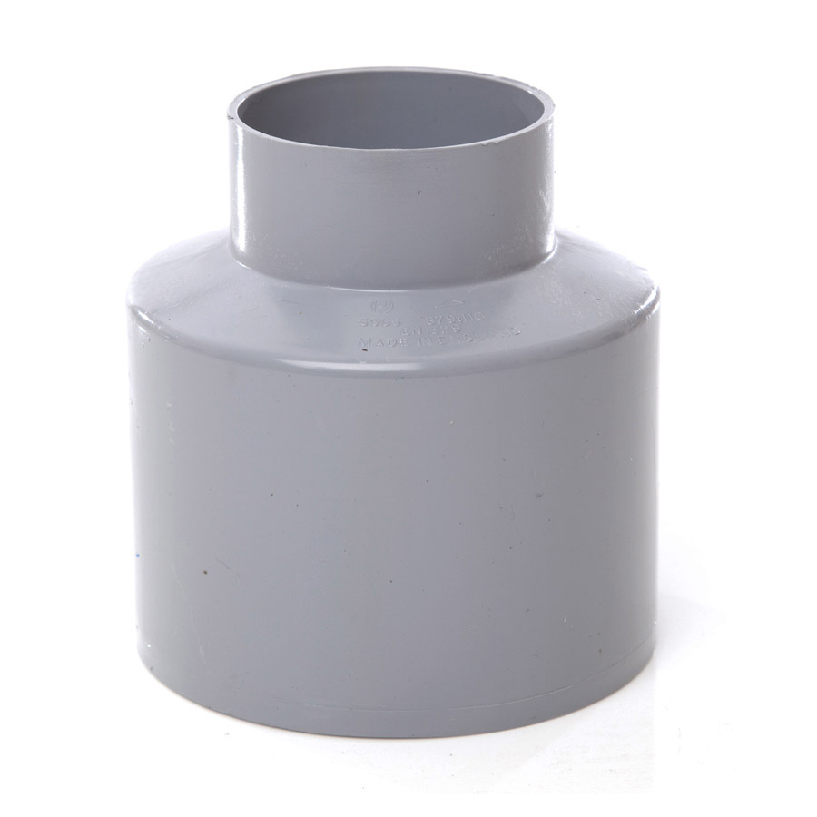 Polypipe Soil & Vent 110mm Reducer Waste Concentric Grey SO65 image 0