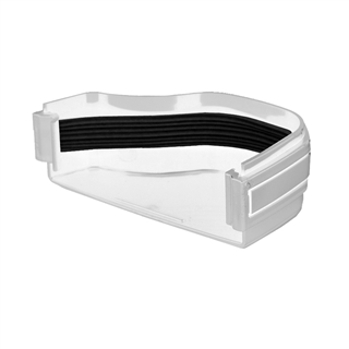 Polypipe Ogee Gutter 130mm x 70mm Stop End External Right Hand White ROG17
