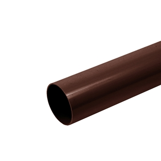 Polypipe Rainwater Round Pipe 68mm 4m Brown RR123
