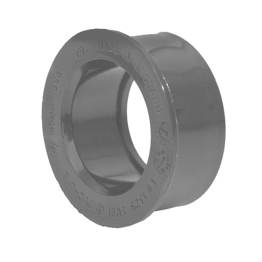 Polypipe Solvent Weld Waste 40mm Boss Adapter Grey SW81 image 0