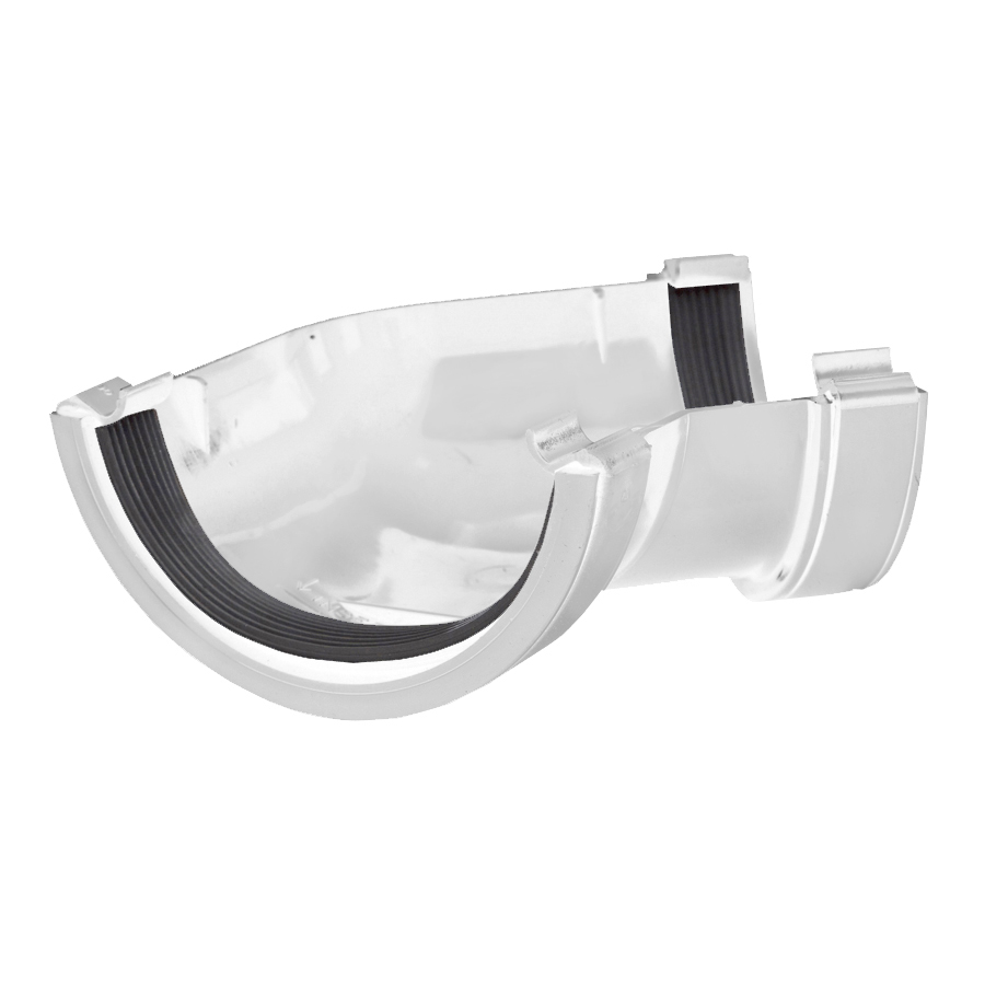 Polypipe Half Round Rainwater 112mm Gutter Angle 135° White RR104 image 0
