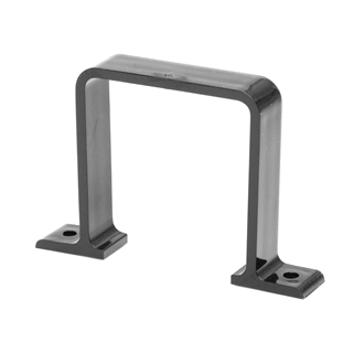 Polypipe Square Rainwater 65mm Flush Pipe Bracket Black RS236