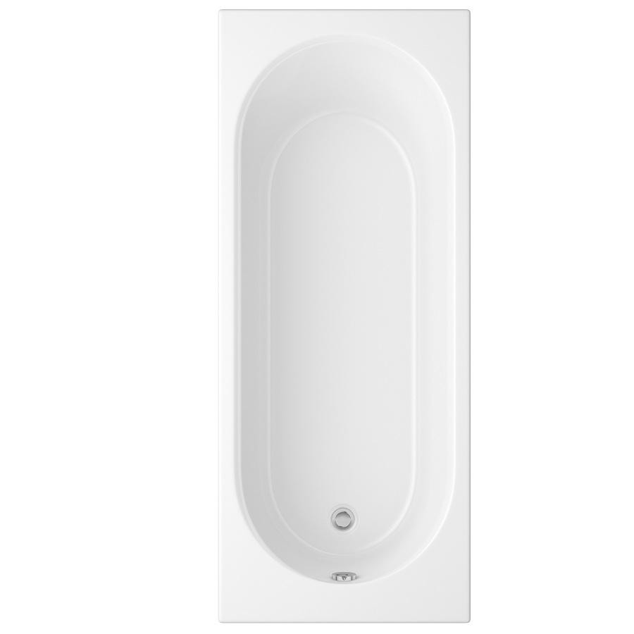 Cascade Single Ended Bath 1700mm x 700mm (2 Taphole) 5mm Thick image 1