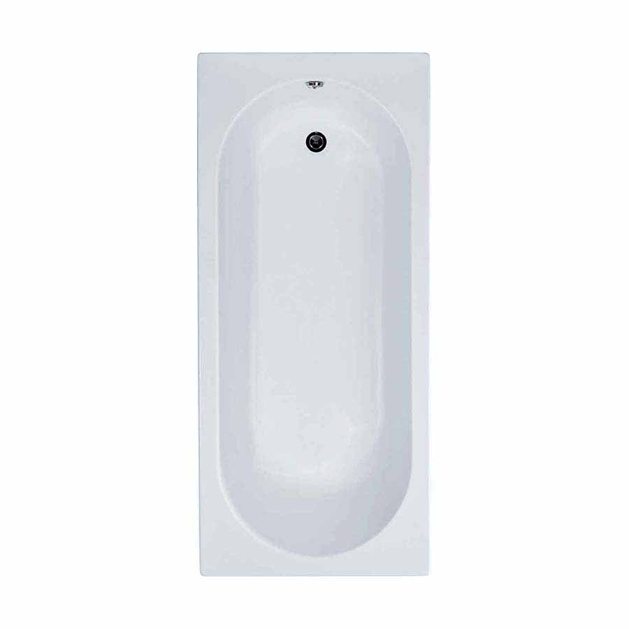 Cascade Single Ended Bath 1700mm x 700mm (2 Taphole) 5mm Thick image 0