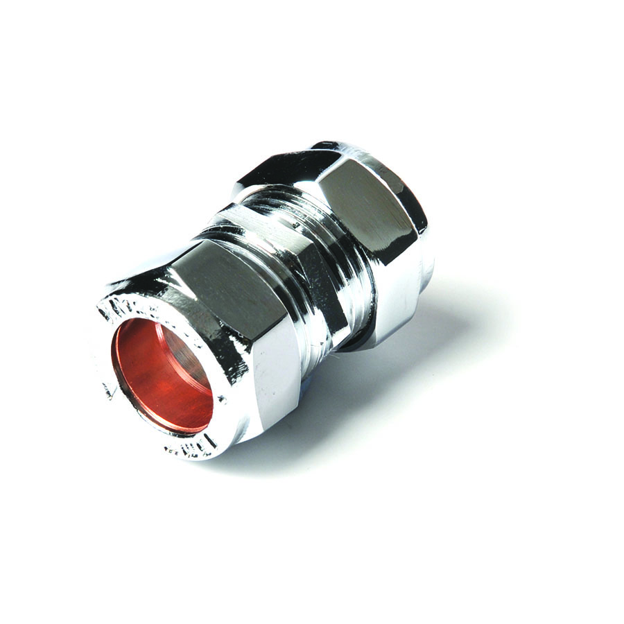 Compression Fitting Connector 15m Chrome image 0