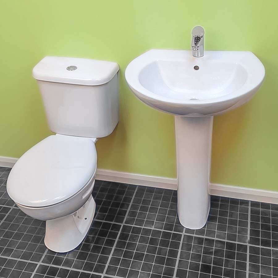 Instinct Trade Close Coupled Toilet Pan & 6/4L Cistern without Seat (Boxed) image 1