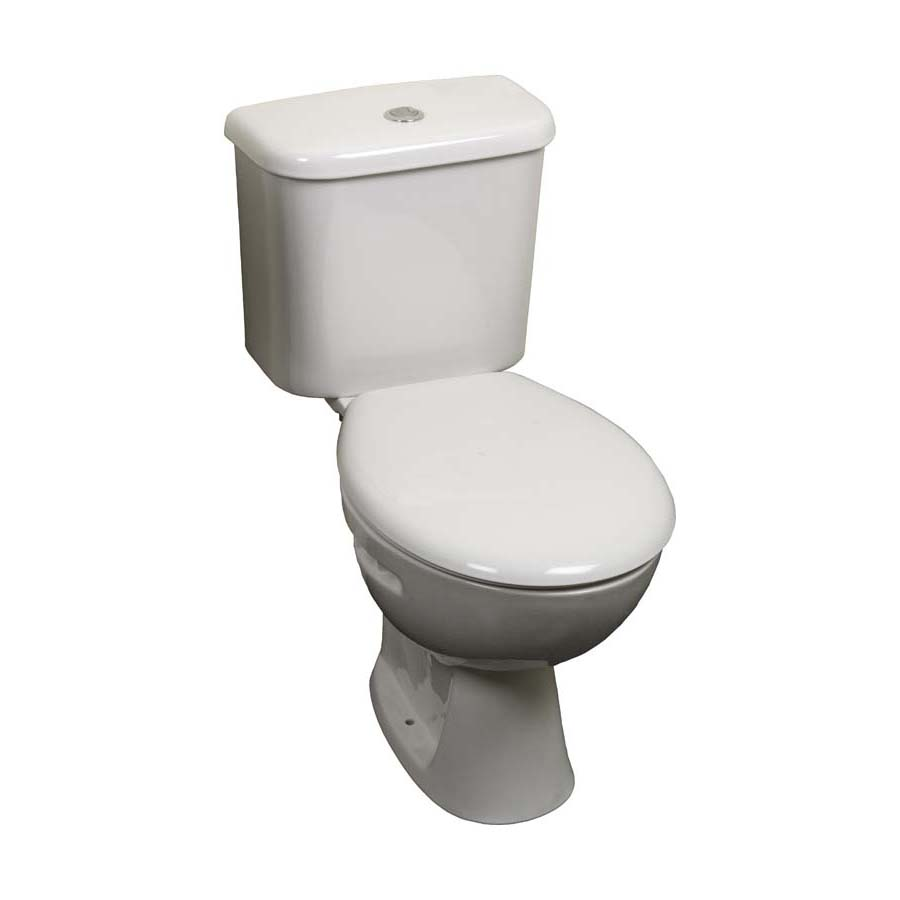 Instinct Trade Close Coupled Toilet Pan & 6/4L Cistern without Seat (Boxed) image 0