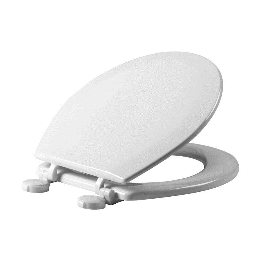 Instinct Opel Moulded Wood Toilet Seat with Plastic Hinges image 1
