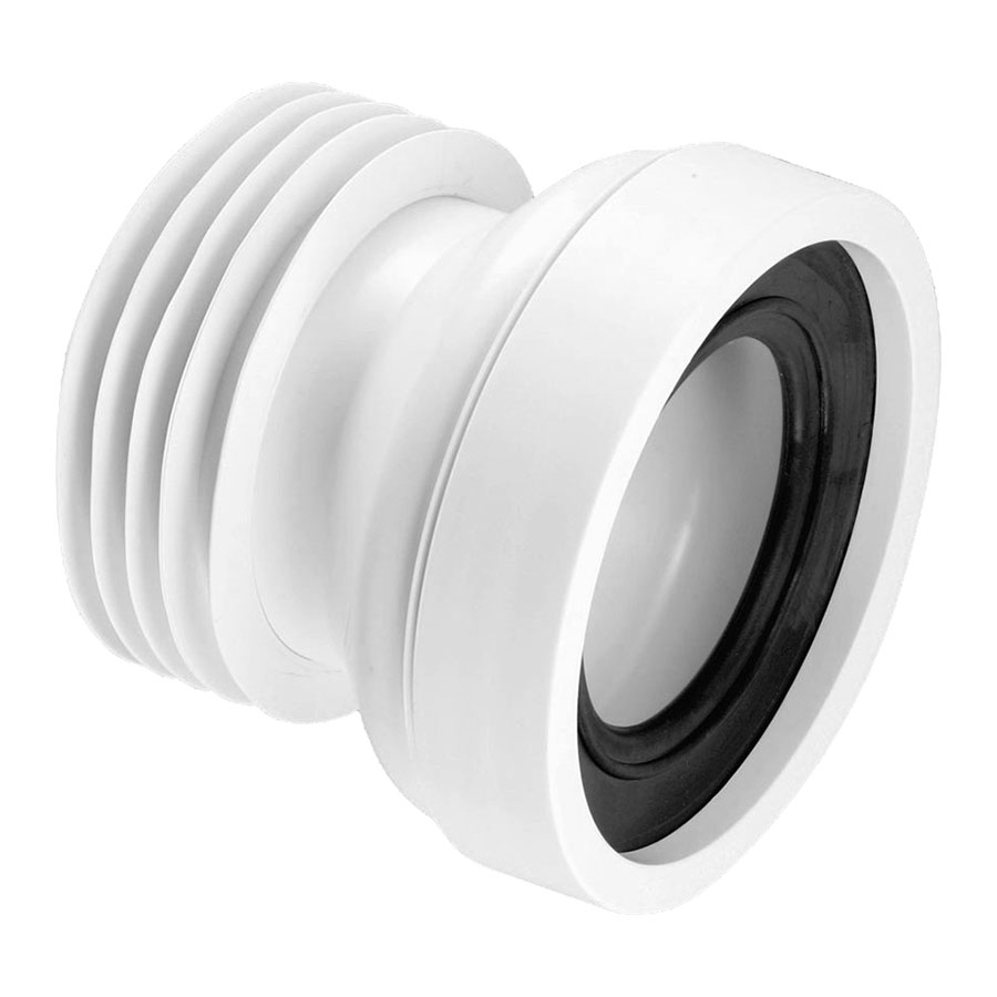 McAlpine WC-CON1 110mm Straight Pan Connector image 0