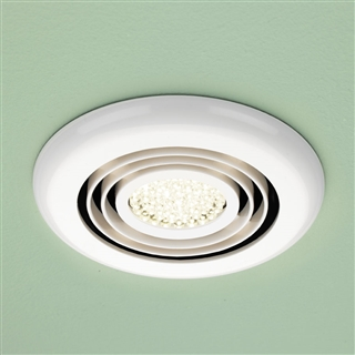 HiB Turbo Inline Fan with Warm White LED 145mm White