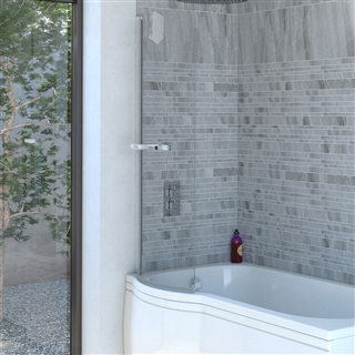 1400Mm Shower Bath reflex c shaped shower bath screen 750mm x 1400mm
