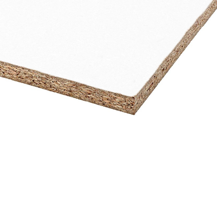 2440mm x 305mm x 15mm Melamine Faced Chipboard White image 0