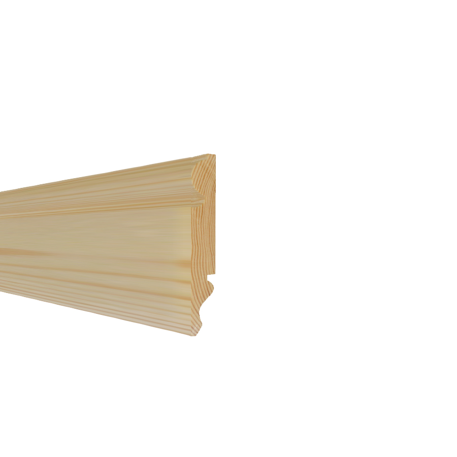 25mm x 125mm Premium Softwood Skirting Torus/Ogee (21mm x 120mm Finished Size) image 0