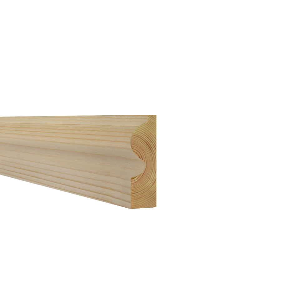 25mm x 75mm Softwood Architrave Torus (21mm x 70mm Finished Size) image 0