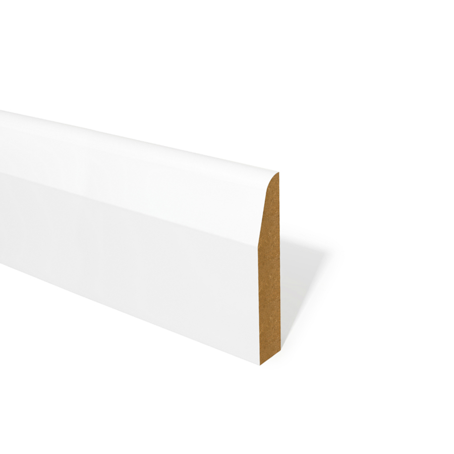15mm x 94mm MDF Skirting Chamfered Round Primed image 0