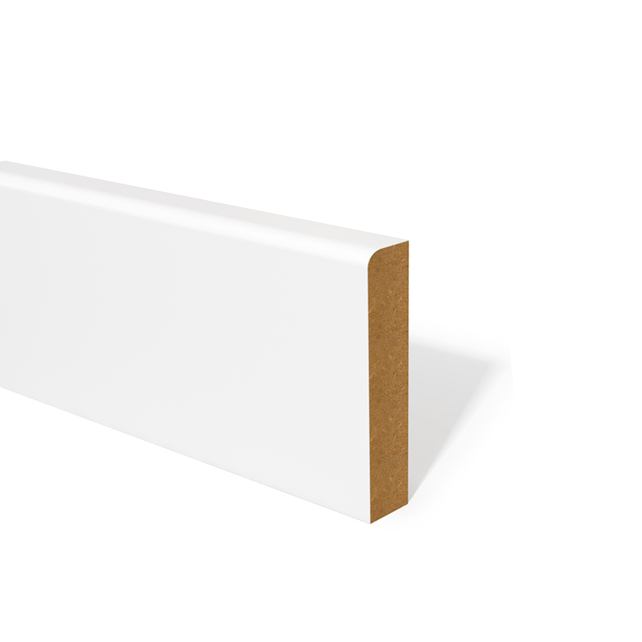 18mm x 94mm MDF Skirting Pencil Round Primed image 0
