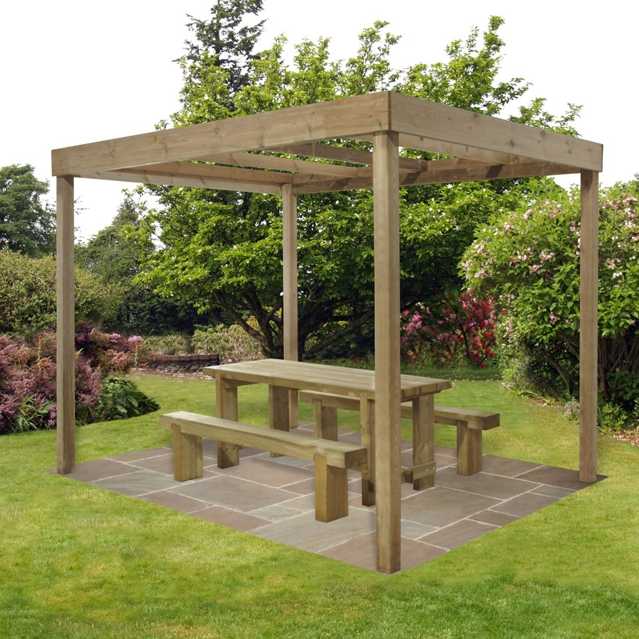 Dining Pergola (Without Panels) 2800mm x 3040mm x 2440mm Home Delivered image 1