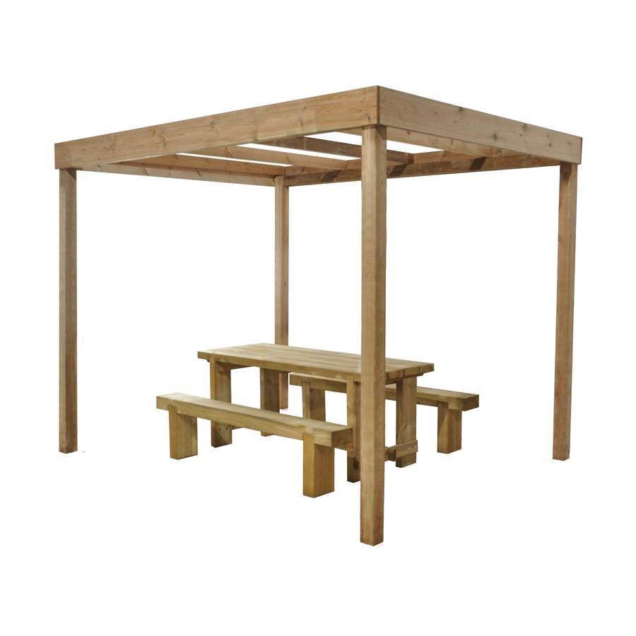 Dining Pergola (Without Panels) 2800mm x 3040mm x 2440mm Home Delivered image 2