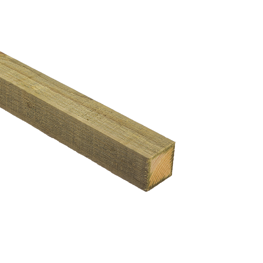 Incised UC4 Green Treated Fence Post 75mm x 75mm x 2.4m image 0