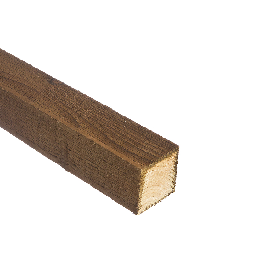 Incised UC4 Brown Treated Fence Post 75mm x 75mm x 2.4m image 0