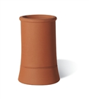 Terracotta Chimney Pot Plain Roll Top Red 300mm