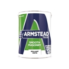 Armstead Trade Masonry Paint Smooth Brilliant White 5 Litre