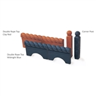 Victorian Edging Double Rope Top 465mm x 170mm Clay Red