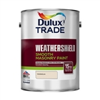 Dulux Trade Weathershield Masonry Paint Smooth Magnolia 5L