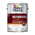 Dulux Trade Weathershield Masonry Paint Textured Pure Brilliant White 5L