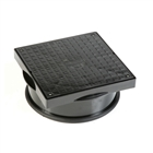 Polypipe Underground Drain 320mm Diameter Square PVC Cover & Frame UG502