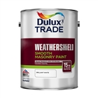 Dulux Trade Weathershield Masonry Paint Smooth White 5L