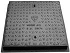 Manhole Cover & Frame Cast Iron MC1 60/45 600mm x 450mm A15 1.5 Tonne