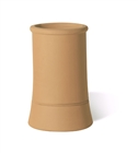 Terracotta Chimney Pot Plain Roll Top Buff 450mm