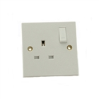 SMJ Electrical 1 Gang Switched Socket 13A