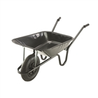 Heavy Duty Black Contractors Wheelbarrow 85 Litre with Pneumatic Wheel