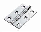 """Double Steel Washer Butt Hinge 3"""" with Screws Chrome"""