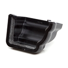 Polypipe High Capacity Gutter Profile External Stop End Right Hand Black RH719