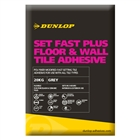 Dunlop Set Fast Plus Floor & Wall Tile Adhesive Grey 20kg