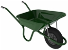 Haemmerlin Wheelbarrow Green Pneumatic Tyre 90 Litre