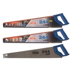 "Bahco Handsaw Twin Pack 2 x 244 Hardpoint Handsaw 550mm 22"" with 1 x 244 Fine Cut Handsaw 500mm (20"")"